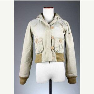 Vintage Abercrombie & Fitch Hooded Tan Jacket